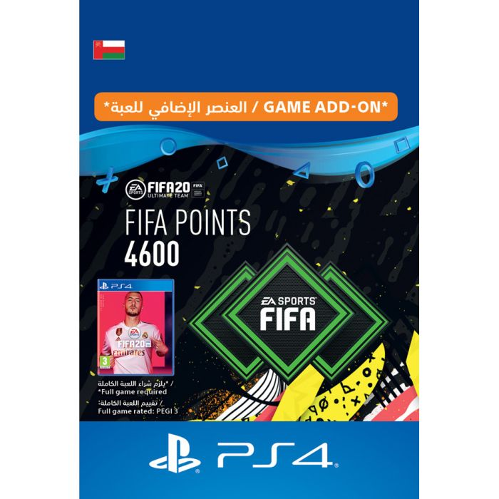 Shop Fifa 20 Ultimate Team 4600 Points Oman Instant Delivery Online In Al Ahmadi Hawalli Al Fahahil And All Kuwait Geekay